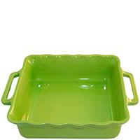 Керамическая квадратная форма для выпечки Appolia зеленого цвета 24.5см, фото