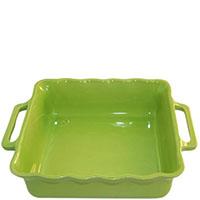 Керамическая квадратная форма для выпечки Appolia зеленого цвета 27,5см, фото