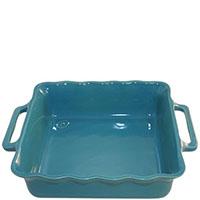 Керамическая квадратная форма для выпечки Appolia голубого цвета 27,5см, фото