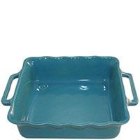 Керамическая квадратная форма для выпечки Appolia голубого цвета 31 см, фото