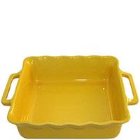 Керамическая квадратная форма для выпечки Appolia желтого цвета 31 см, фото
