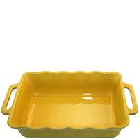 Керамическая прямоугольная форма для выпечки Appolia желтого цвета с ручками, фото