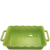 Керамическая прямоугольная форма для выпечки Appolia зеленого цвета, фото