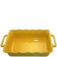 Керамическая прямоугольная форма для выпечки Appolia желтого цвета, фото