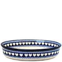 Форма для запекания Ceramika Artystyczna овальная Валентинки, фото