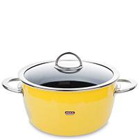 Кастрюля с крышкой Kochstar Neo 4,8л желтого цвета, фото