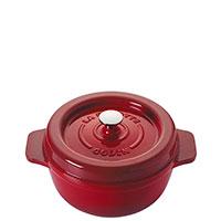 Кастрюля с крышкой Godin 2л 19см красного цвета, фото