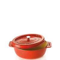 Красная жаровня Godin из чугуна с эмалированным покрытием 7,2л, фото