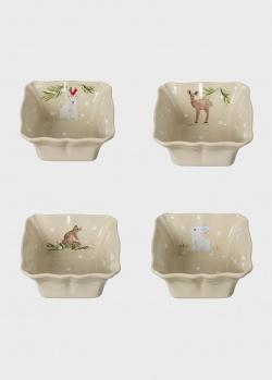 Набор квадратных форм для выпекания Casafina Deer Friends 4шт, фото