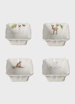 Набор форм для выпекания белый Casafina Deer Friends 4шт, фото