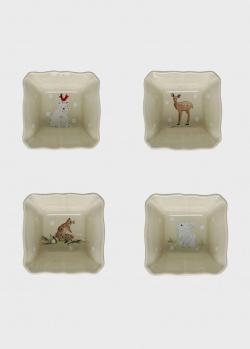 Набор порционных горшочков бежевый Casafina Deer Friends 4шт, фото