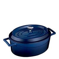Кастрюля Lava Trendy овальной формы синего цвета, фото