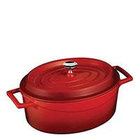 Кастрюля Lava Trendy овальной формы красного цвета, фото