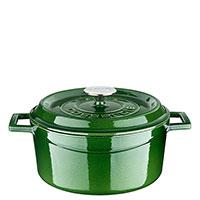 Кастрюля Lava Premium зеленого цвета диаметром 24 см, фото