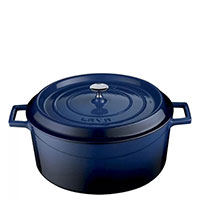 Кастрюля Lava Folk синего цвета 28х12 см, фото