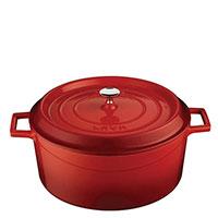 Кастрюля Lava Folk красного цвета 28х12 см, фото