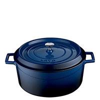 Кастрюля Lava Folk синего цвета 32х13,6 см, фото