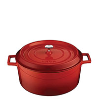Кастрюля Lava Folk красного цвета 32х13,6 см, фото