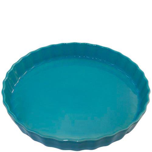 Круглая керамическая форма для пирога Appolia голубого цвета , фото