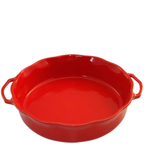 Большая керамическая форма для суфле Appolia красного цвета с ручками, фото