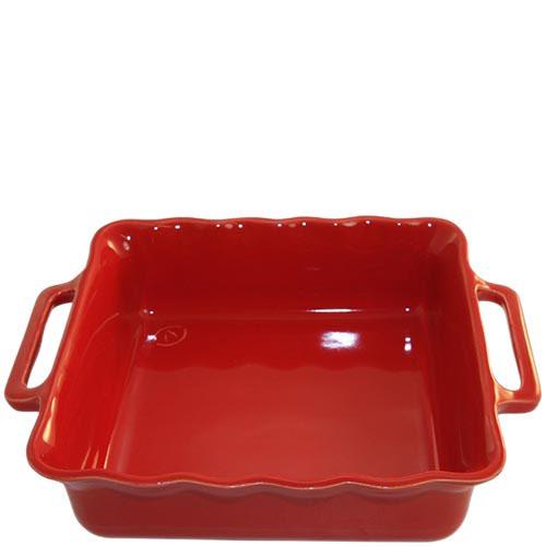Керамическая квадратная форма для выпечки Appolia красного цвета 31 см, фото