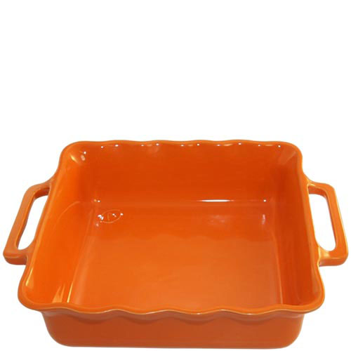Керамическая квадратная форма для выпечки Appolia оранжевого цвета 31 см, фото
