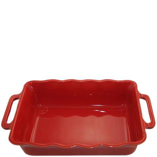 Керамическая прямоугольная форма для выпечки Appolia красного цвета с ручками, фото
