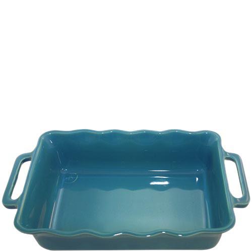 Керамическая прямоугольная форма для выпечки Appolia голубого цвета с ручками, фото