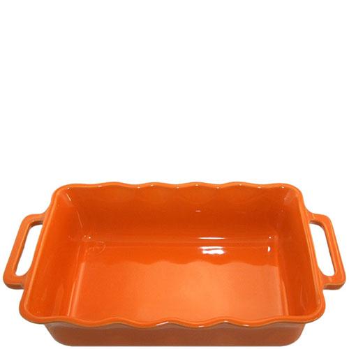 Керамическая прямоугольная форма для выпечки Appolia оранжевого цвета, фото