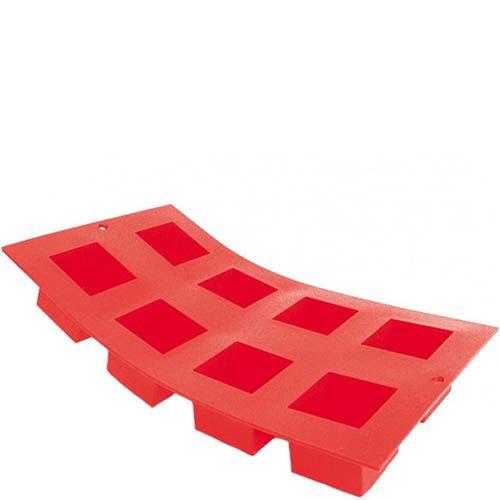 Форма для выпечки De Buyer Moul flex силиконовая красная на 8 кексов или маффинов, фото