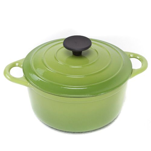 Чугунный казан Mario Batali на 1.9 л салатово-зеленый, фото