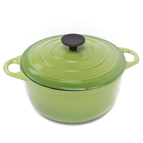 Чугунный казан Mario Batali на 3.7 л салатово-зеленый, фото