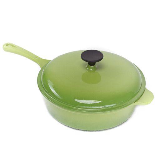 Сотейник чугунный Mario Batali салатово-зеленый, фото