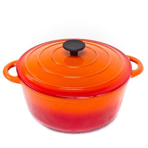 Казан чугунный Mario Batali на 5.6 л оранжевый, фото