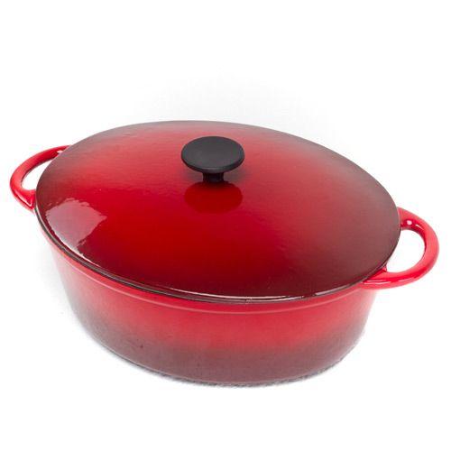 Казан чугунный Mario Batali овальный на 5.7 л темно-красный, фото