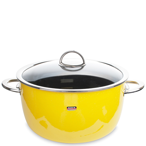 Кастрюля с крышкой Kochstar Neo 6,1л желтого цвета, фото