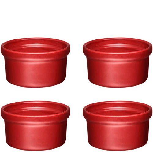 Набор порционных форм Emile Henry Natural Chic красного оттенка Grenade, фото