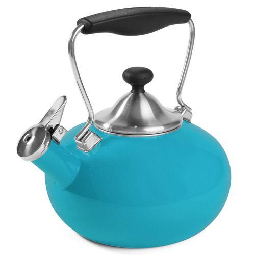 Чайник со свитком Chantal голубой, фото
