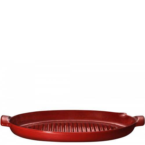 Гриль для рыбы Emile Henry Bbq 50 см керамический красный Rouge, фото