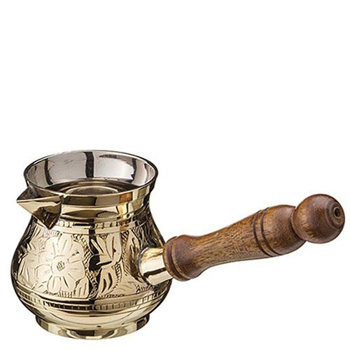 Набор турок Sri ram из латуни с деревянными ручками, фото