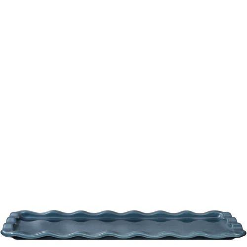 Форма-поднос Emile Henry Natural Chic Bleu Pavot 36х15 см для запекания и подачи, фото