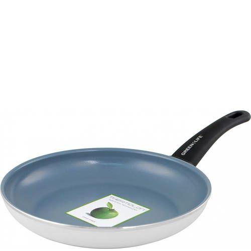 Сковорода Green Life Жить здорово 24 см белая антипригарная, фото