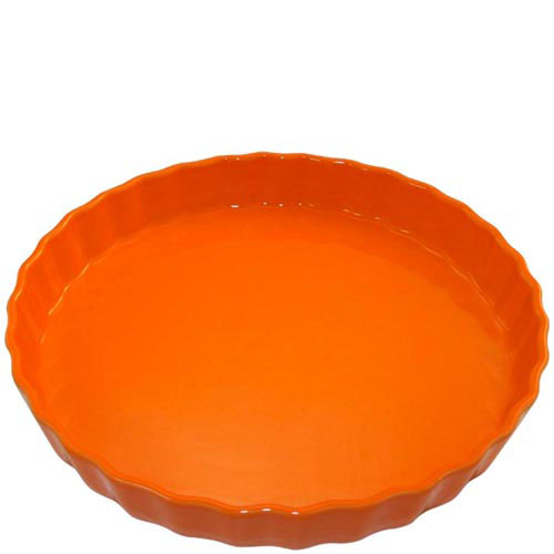 Круглая керамическая форма для пирога Appolia оранжевого цвета