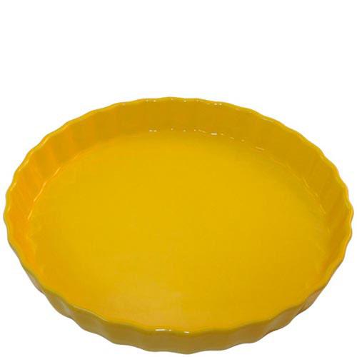 Круглая керамическая форма для пирога Appolia желтого цвета