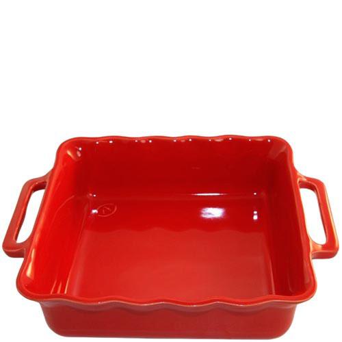 Керамическая квадратная форма для выпечки Appolia красного цвета 24.5см
