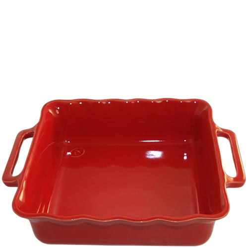 Керамическая квадратная форма для выпечки Appolia красного цвета 31 см