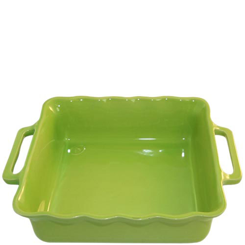 Керамическая квадратная форма для выпечки Appolia зеленого цвета 31 см