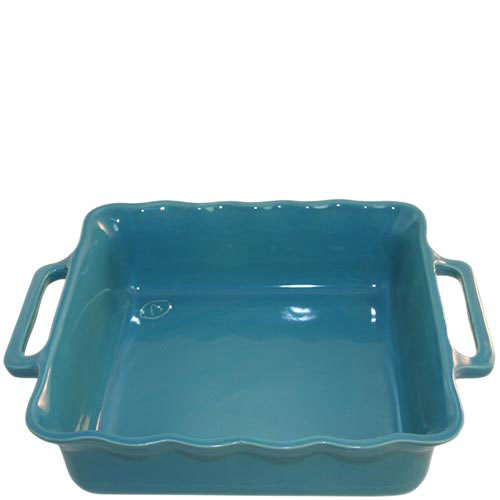Керамическая квадратная форма для выпечки Appolia голубого цвета 31 см