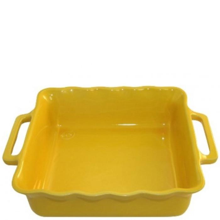 Форма квадратная Appolia Delices желтого цвета 38,5см
