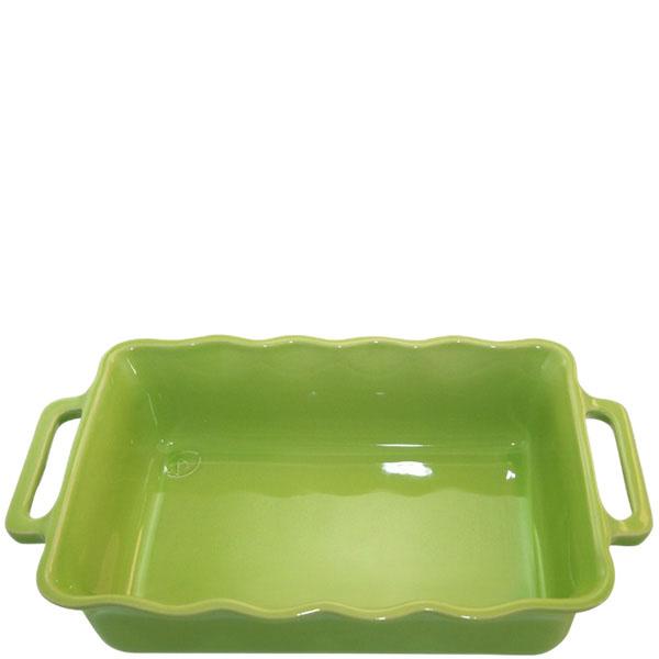 Керамическая прямоугольная форма для выпечки Appolia зеленого цвета